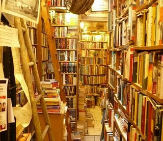 Inside the Abbey Bookshop in Quartier Latin