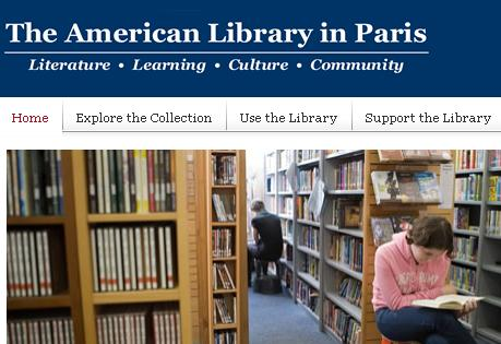 American Library in Paris, Homepage