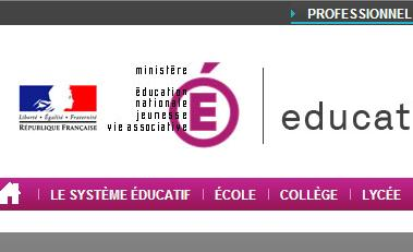 Link to Education Nationale portal