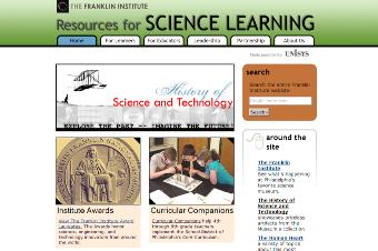 Resources for Sciences Learning at Philadelphia Franklin Institute